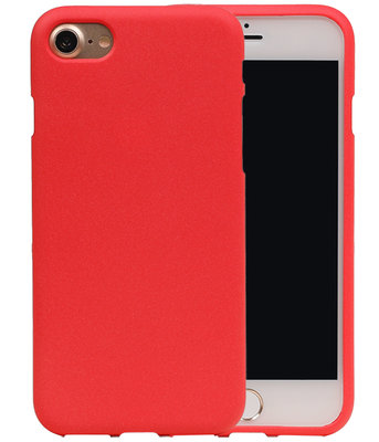 Rood Zand TPU back case cover hoesje voor Apple iPhone 7 / 8