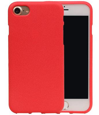 Rood Zand TPU back case cover voor Hoesje voor Apple iPhone 7 / 8