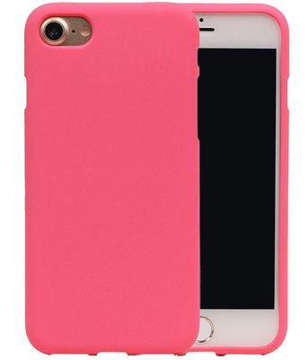 Roze Zand TPU back case cover voor Hoesje voor Apple iPhone 7 / 8
