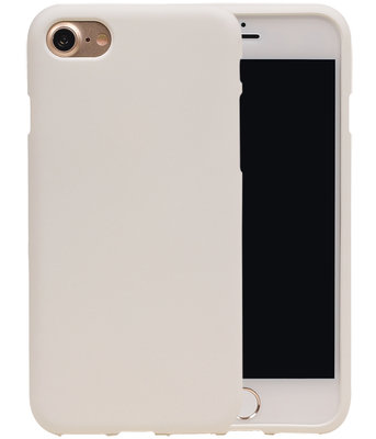 Wit Zand TPU back case cover hoesje voor Apple iPhone 7 / 8