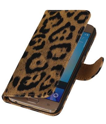 Goud Luipaard Booktype wallet voor Hoesje voor Apple iPhone 5 / 5s / SE