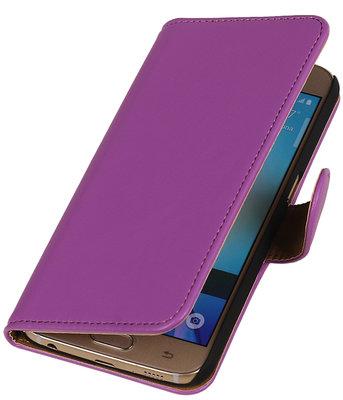 Paars Leder Look Booktype wallet hoesje voor Apple iPhone 5 / 5s / SE