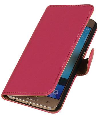 Roze Leder Look Booktype wallet hoesje voor Apple iPhone 5 / 5s / SE