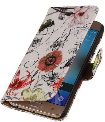 Vlinder Bloem Booktype wallet voor Hoesje voor Apple iPhone 6 / 6s Plus