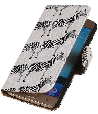 Wit Zebra 2 Booktype wallet voor Hoesje voor Apple iPhone 6 / 6s Plus
