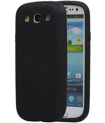 Hoesje voor Samsung Galaxy S3 i9300 TPU back case Zwart
