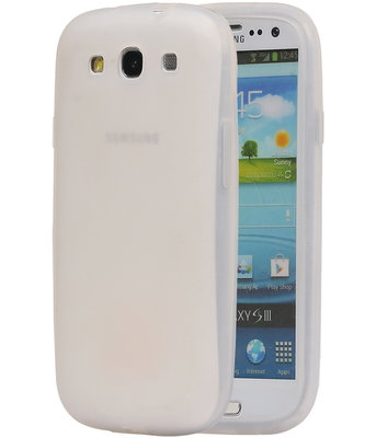 Hoesje voor Samsung Galaxy S3 i9300 TPU back case Wit