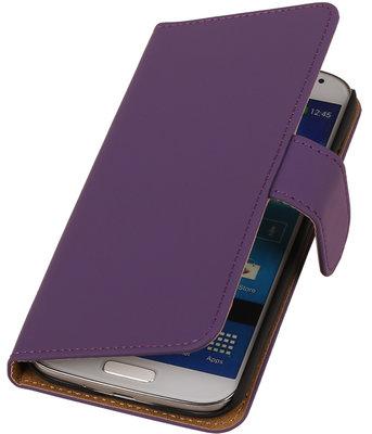 Paars Effen booktype wallet cover hoesje voor Samsung Galaxy S5 Active G870