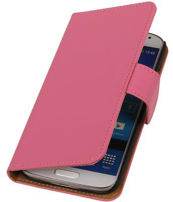 Roze Effen booktype wallet cover hoesje voor Samsung Galaxy S5 Active G870