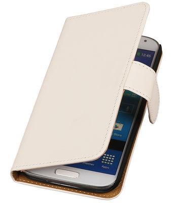 Wit Effen booktype wallet cover hoesje voor Samsung Galaxy S5 Active G870