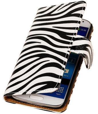 Zebra booktype wallet cover voor Hoesje voor Samsung Galaxy S5 Active G870