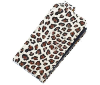 Bruin Luipaard Classic flip case voor Hoesje voor Apple iPhone 4 / 4S