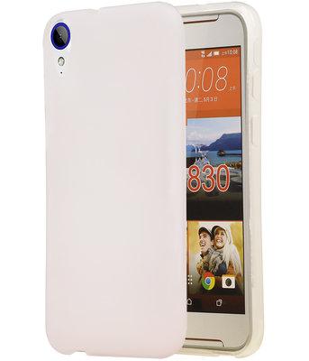 Hoesje voor HTC Desire 830 TPU back case transparant Wit