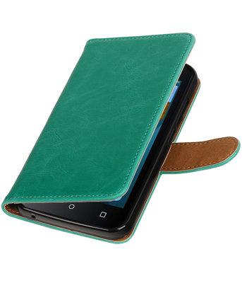 Groen Pull-Up PU booktype wallet voor Hoesje voor Huawei Y560 / Y5