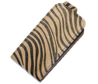 Grijs Zebra Classic Flip case voor Hoesje voor Samsung Galaxy Fame S6810