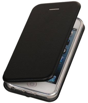 Zwart Premium Folio leder look booktype smartphone voor Hoesje voor Apple iPhone 5 / 5s / SE