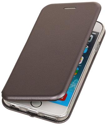 Grijs Premium Folio leder look booktype smartphone voor Hoesje voor Apple iPhone 7 / 8