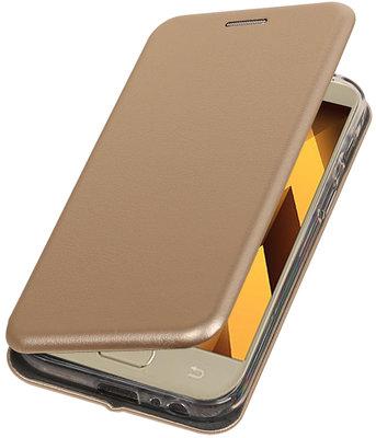 Goud Premium Folio leder look booktype smartphone voor Hoesje voor Samsung Galaxy A3 2017 A320