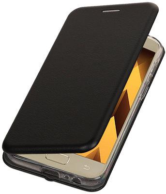 Zwart Premium Folio leder look booktype smartphone voor Hoesje voor Samsung Galaxy A3 2017 A320
