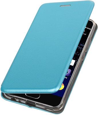 Blauw Premium Folio leder look booktype smartphone voor Hoesje voor Huawei P10
