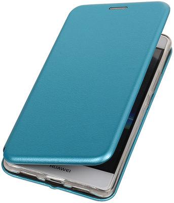 Blauw Premium Folio leder look booktype smartphone voor Hoesje voor Huawei P9 Lite