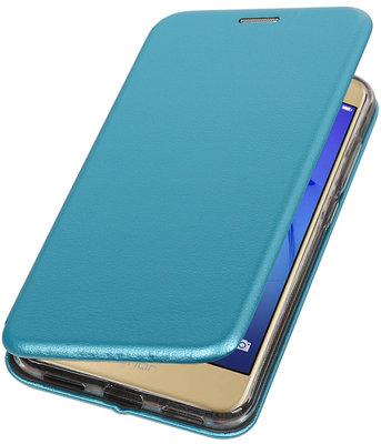 Blauw Premium Folio leder look booktype smartphone voor Hoesje voor Huawei P8 Lite 2017