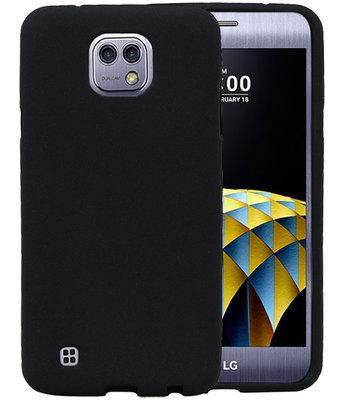 Zwart Zand TPU back case cover hoesje voor LG X Cam K580