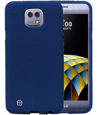 Blauw Zand TPU back case cover hoesje voor LG X Cam K580