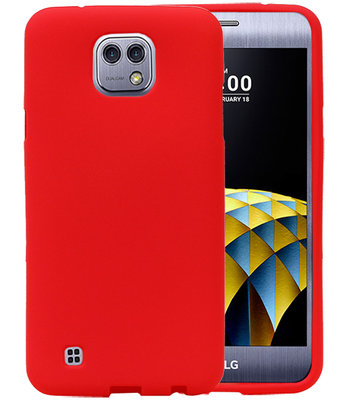 Rood Zand TPU back case cover hoesje voor LG X Cam K580