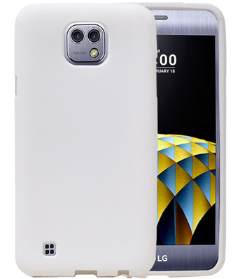 Wit Zand TPU back case cover hoesje voor LG X Cam K580