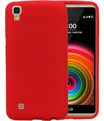 Rood Zand TPU back case cover hoesje voor LG X Power K220