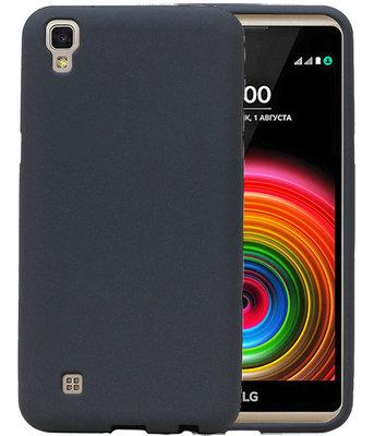 Grijs Zand TPU back case cover hoesje voor LG X Style K200