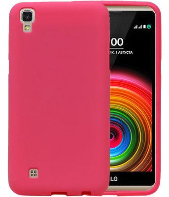 Roze Zand TPU back case cover hoesje voor LG X Style K200