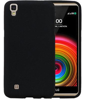 Zwart Zand TPU back case cover hoesje voor LG X Style K200