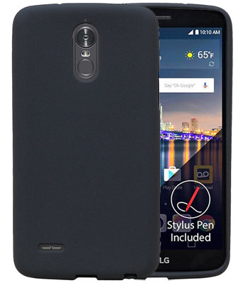 Grijs Zand TPU back case cover voor Hoesje voor LG Stylus 3 / K10 Pro