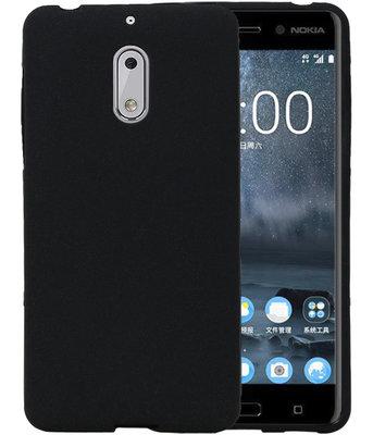 Zwart Zand TPU back case cover voor Hoesje voor Nokia 6