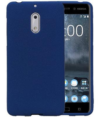 Blauw Zand TPU back case cover voor Hoesje voor Nokia 6