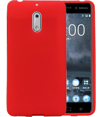 Rood Zand TPU back case cover hoesje voor Nokia 6