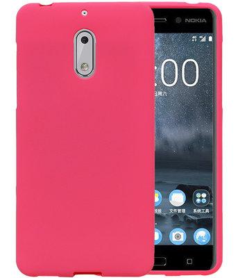 Roze Zand TPU back case cover voor Hoesje voor Nokia 6
