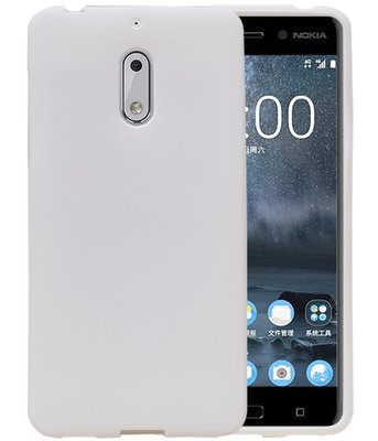 Wit Zand TPU back case cover hoesje voor Nokia 6