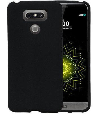 Zwart Zand TPU back case cover voor Hoesje voor LG G6