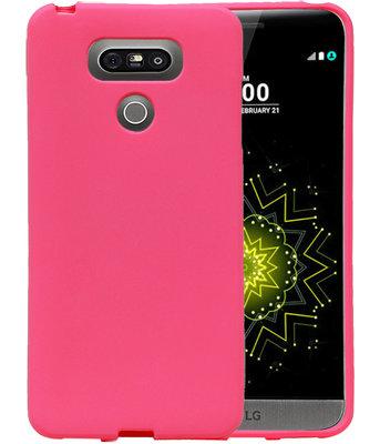 Roze Zand TPU back case cover voor Hoesje voor LG G6
