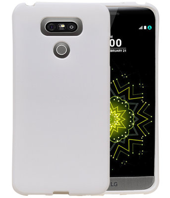 Wit Zand TPU back case cover hoesje voor LG G6