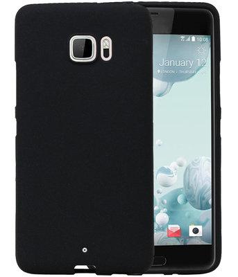 Zwart Zand TPU back case cover voor Hoesje voor HTC U Ultra
