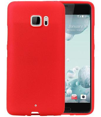 Rood Zand TPU back case cover hoesje voor HTC U Ultra