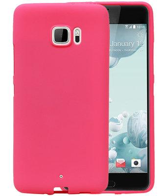 Roze Zand TPU back case cover voor Hoesje voor HTC U Ultra