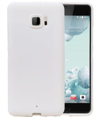 Wit Zand TPU back case cover voor Hoesje voor HTC U Ultra