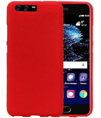 Rood Zand TPU back case cover voor Hoesje voor Huawei P10