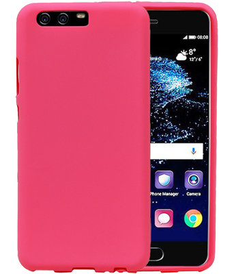 Roze Zand TPU back case cover voor Hoesje voor Huawei P10