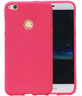 Roze Zand TPU back case cover voor Hoesje voor Huawei P8 Lite 2017 / P9 Lite 2017